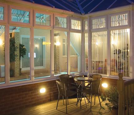 Bespoke Conservatory interior corner view