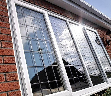 Casement Windows low angle side view