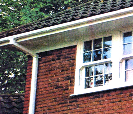 Guttering low angle view on a house