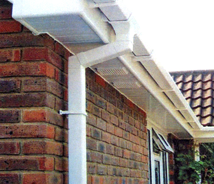 White Guttering long angle view
