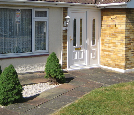 White uPVC Door angled view